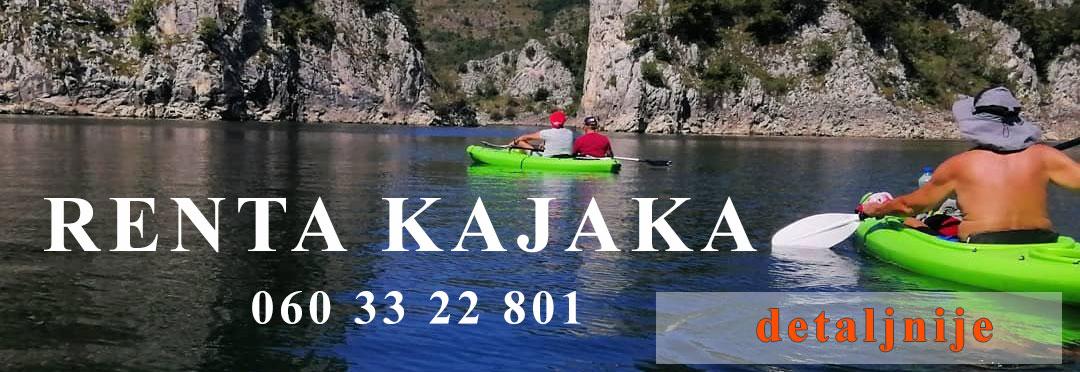Renta kajaka na Uvačkom i Zlatarskom jezeru